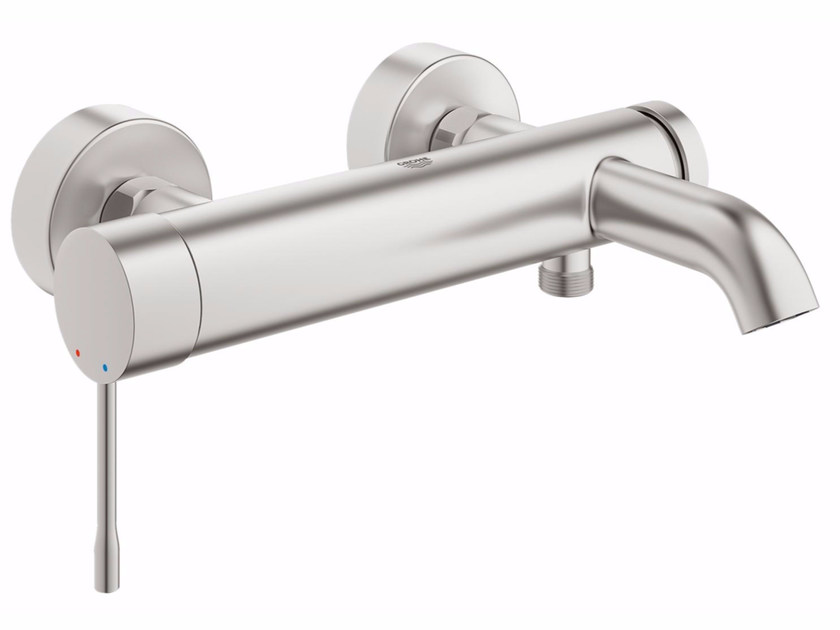 Wall-mounted bathtub mixer with diverter ESSENCE NEW | Bathtub mixer by Grohe