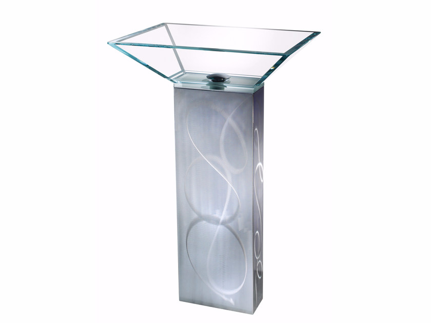 Lavabo freestanding rettangolare in vetro ESSENZA SET ONE | Lavabo - LINEAG
