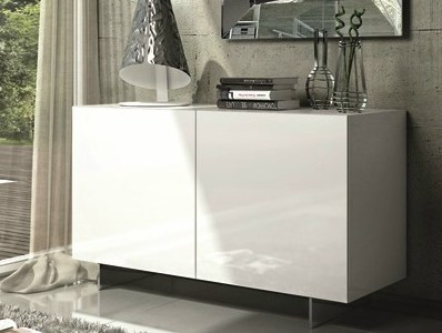 Lacquered sideboard with doors ESSENZIA | Lacquered sideboard by RIFLESSI