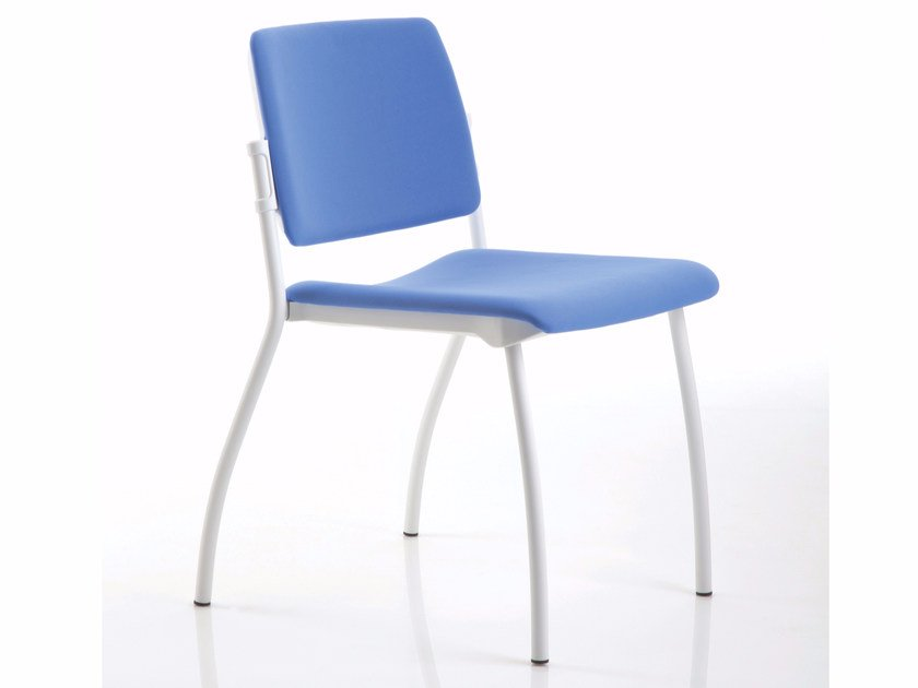 Upholstered stackable chair ESSENZIALE | Chair - Luxy