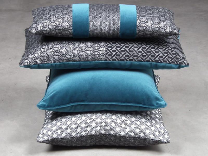 Jacquard fabric with graphic pattern ESTETA DIAMANTE by l'Opificio