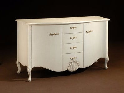 Lacquered solid wood sideboard ESTER | Sideboard with drawers - Arvestyle