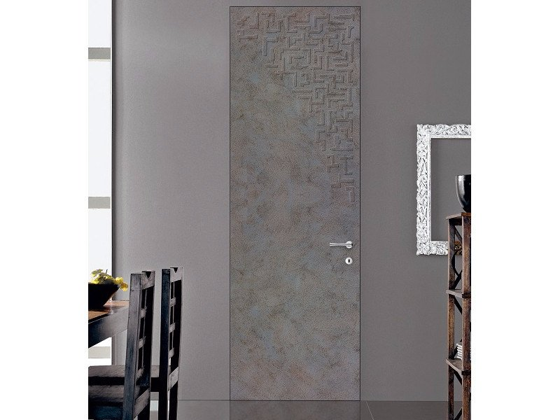 Hinged flush-fitting door ETEREA 11ES SCULTURA CORTEN by GD DORIGO