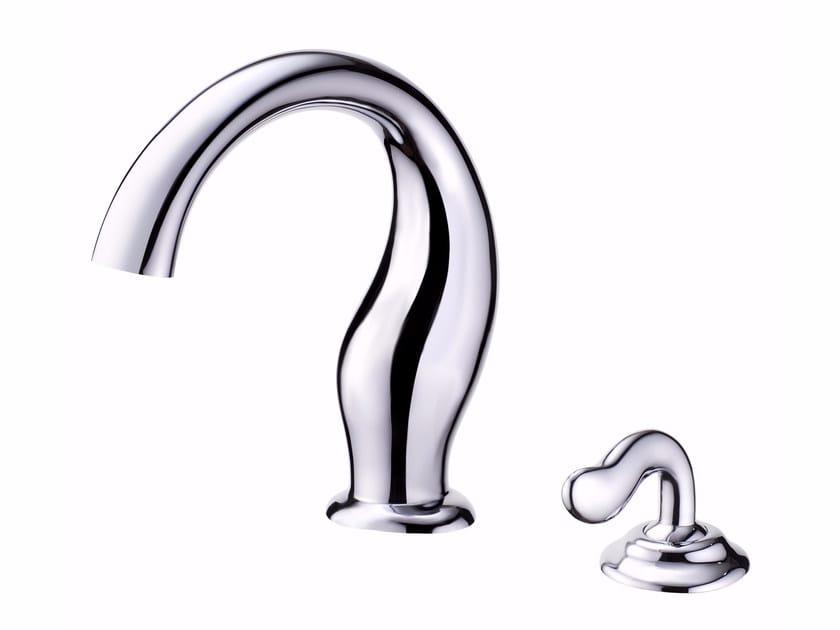 Miscelatore per lavabo da piano monocomando in ottone cromato ETHER | Miscelatore per lavabo - JUSTIME