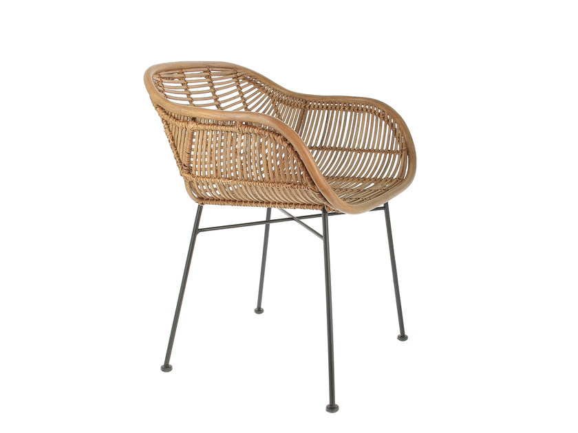Rattan chair with armrests VINTAGE | Chair with armrests by CFOC