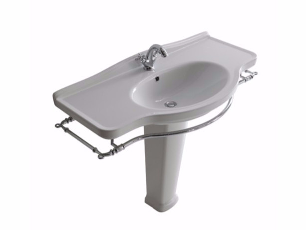 Ceramic washbasin with towel rail ETHOS 110 | Washbasin - GALASSIA