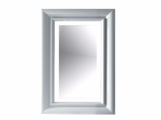 Rectangular bathroom mirror with integrated lighting ETHOS 60 | Mirror with integrated lighting - GALASSIA