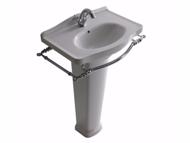 Ceramic washbasin with towel rail ETHOS 65 | Washbasin - GALASSIA