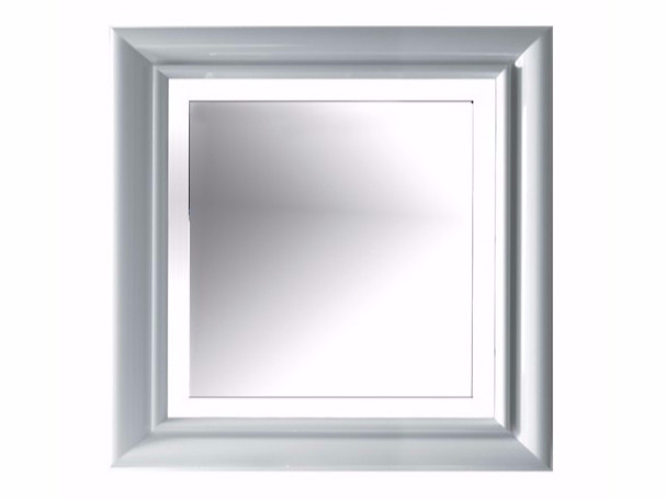 Square bathroom mirror with integrated lighting ETHOS 90   Mirror with integrated lighting - GALASSIA