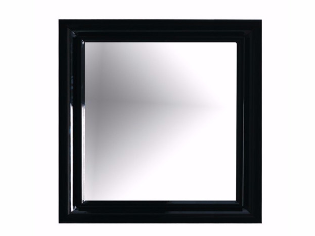 Wall-mounted framed bathroom mirror ETHOS 90 | Mirror by GALASSIA