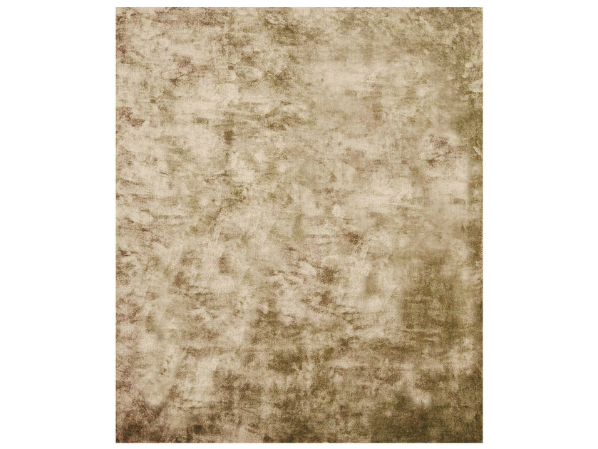 Handmade rectangular rug ETHYLENE GOLD - HENZEL STUDIO