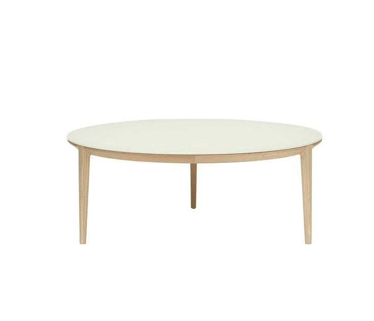 Round wood and glass coffee table ETOILE | Wood and glass coffee table - SP01