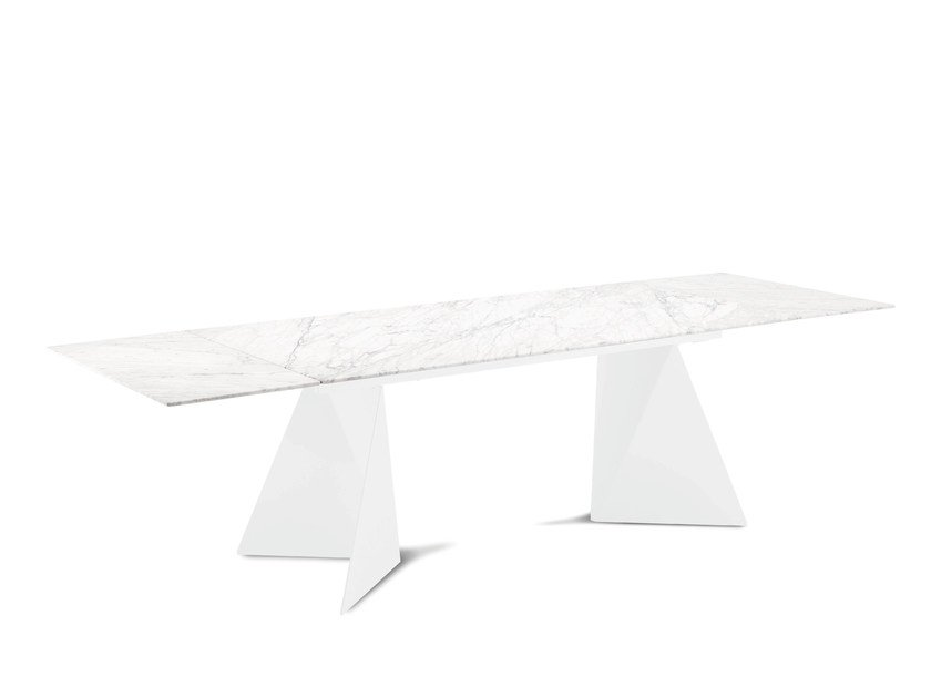 Rectangular marble table EUCLIDE-A - DOMITALIA