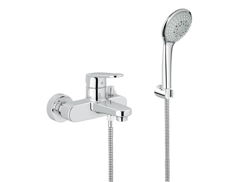 Single handle bathtub/shower mixer with diverter EUROPLUS C | Bathtub mixer with hand shower by Grohe