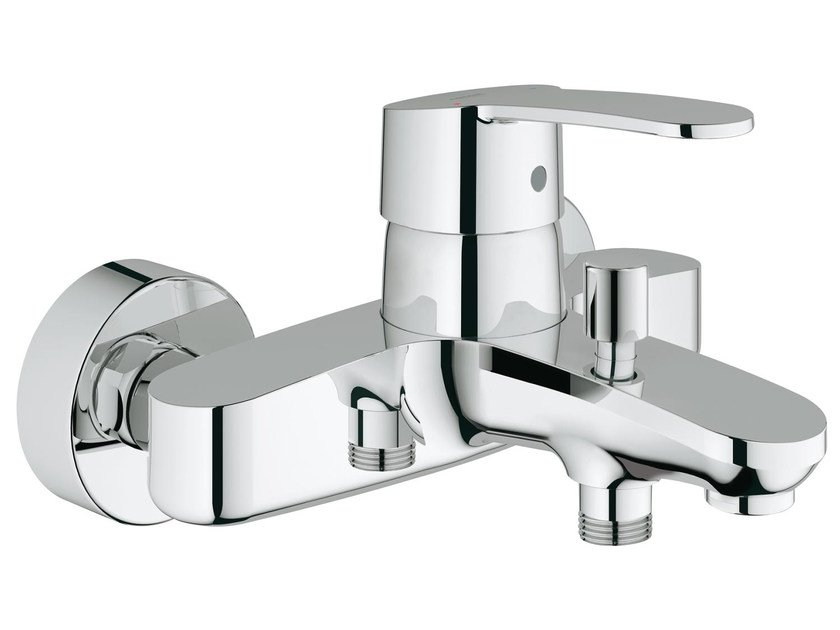 Wall-mounted single handle bathtub/shower mixer EUROSTYLE COSMOPOLITAN | 2 hole bathtub mixer - Grohe