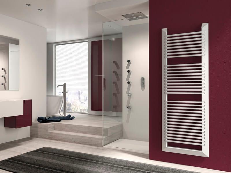 Vertical wall-mounted steel towel warmer EVO   Towel warmer by IRSAP