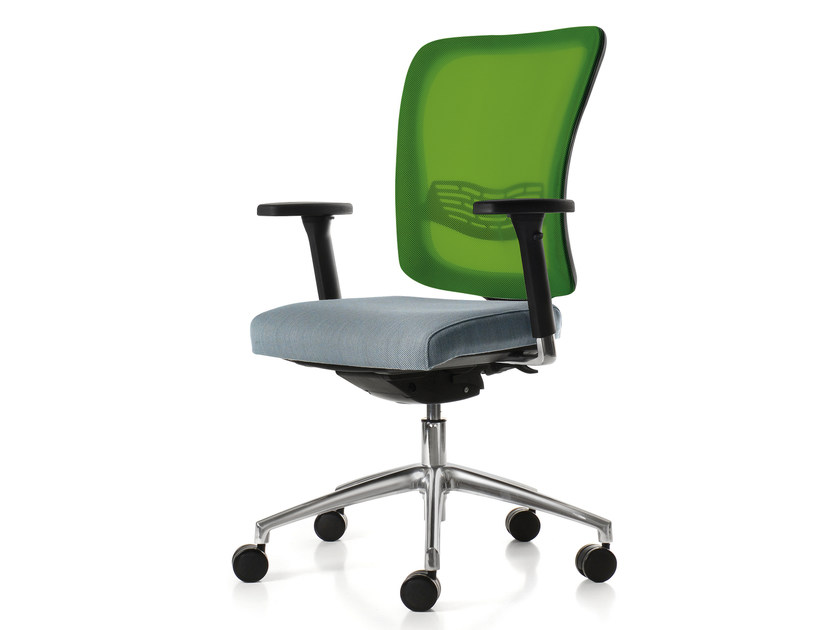 Height-adjustable task chair with 5-Spoke base with armrests EVOQUE 2.0 - Quinti Sedute
