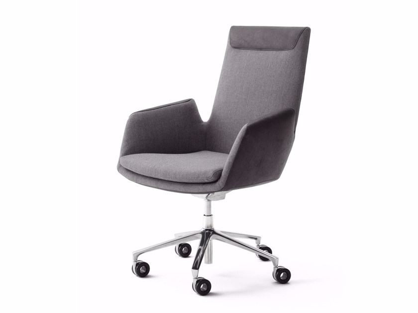Height-adjustable swivel executive chair with casters CORDIA PLUS | Executive chair by COR