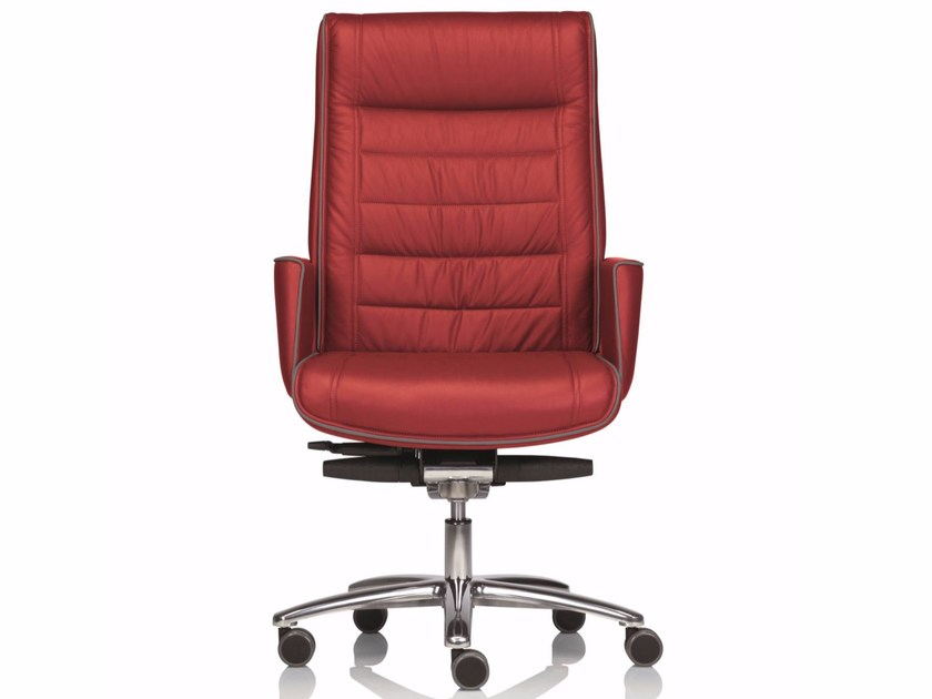 Medium back executive chair with 5-spoke base with armrests MR. BIG | Executive chair - Luxy