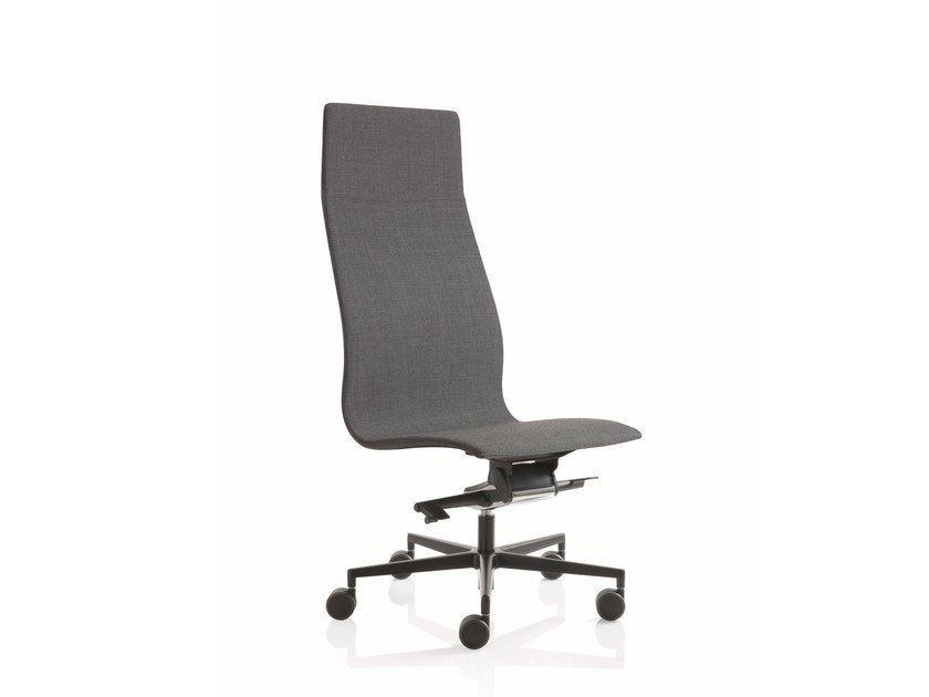 Swivel high-back executive chair with 5-spoke base EM204 | Executive chair with 5-spoke base by Emmegi