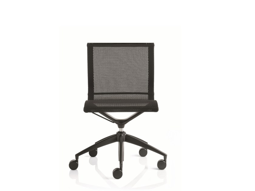 Swivel task chair with 5-Spoke base with casters EM202 MESH | Task chair with 5-Spoke base - Emmegi