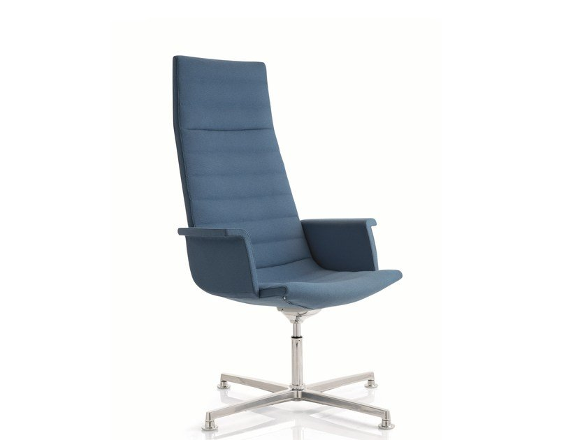 Swivel fabric task chair with 4-Spoke base KEY | Swivel task chair by Emmegi