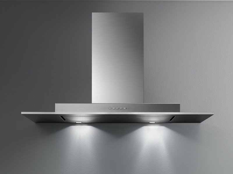 Wall-mounted stainless steel cooker hood with activated carbon filters EXPLOIT TOP - Falmec