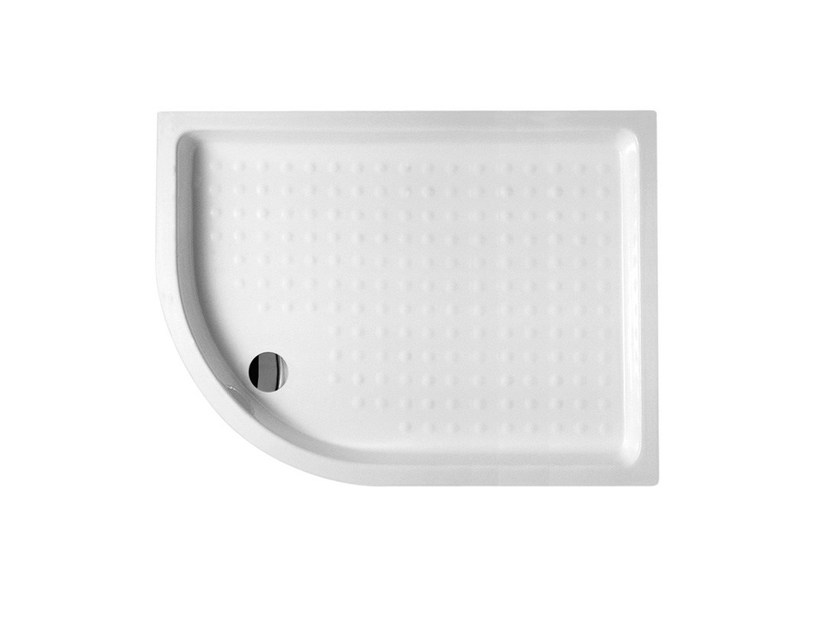 Corner built-in extra flat shower tray EXTRATHIN 73x91 - Alice Ceramica