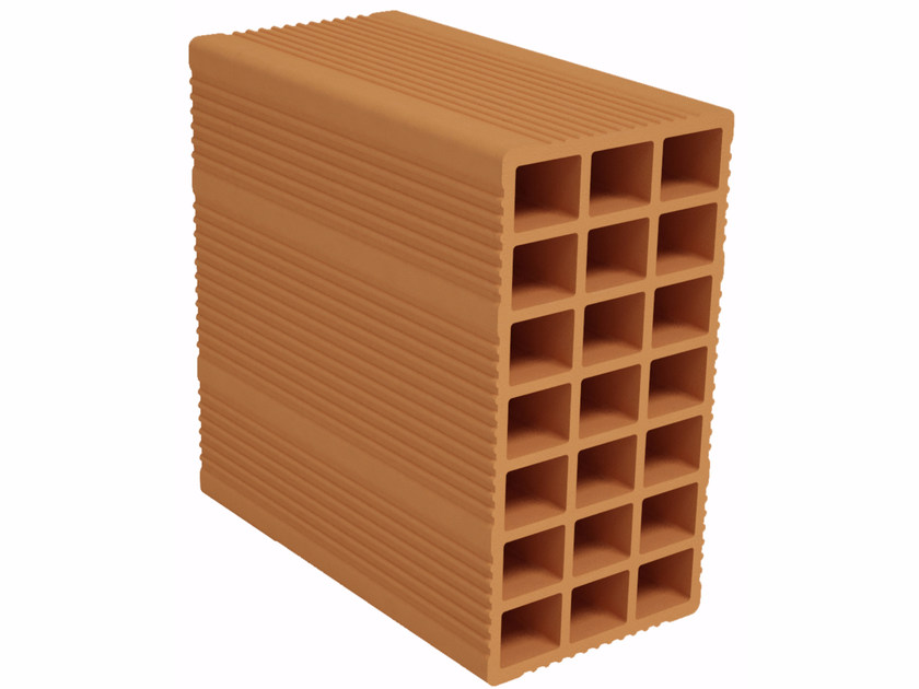 Clay block for internal partition F130 | Clay block for internal partition by Fornaci Ioniche