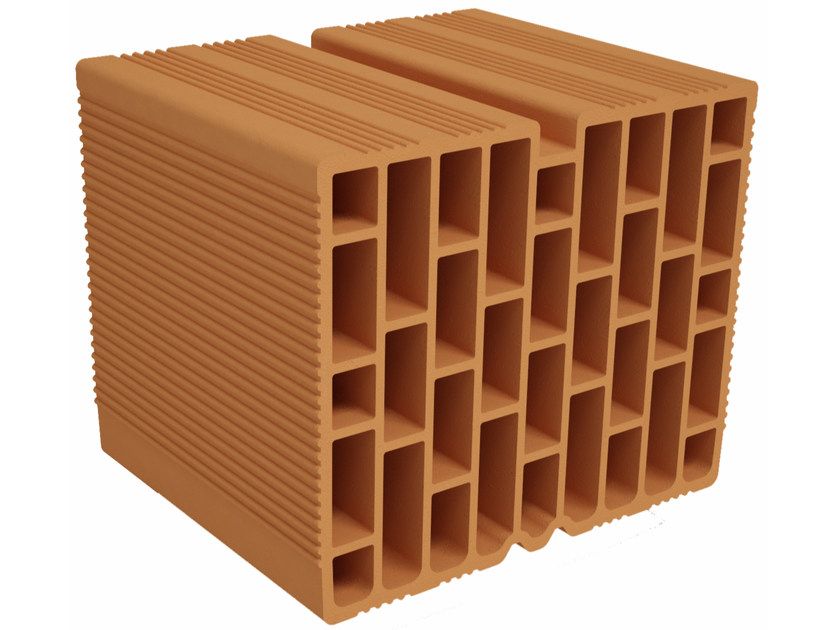 Clay block for internal partition F300   Clay block for internal partition by Fornaci Ioniche