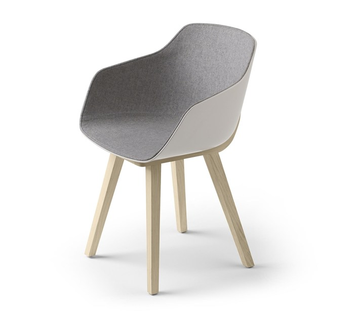 Fabric chair with armrests KUSKOA BI | Fabric chair - ALKI