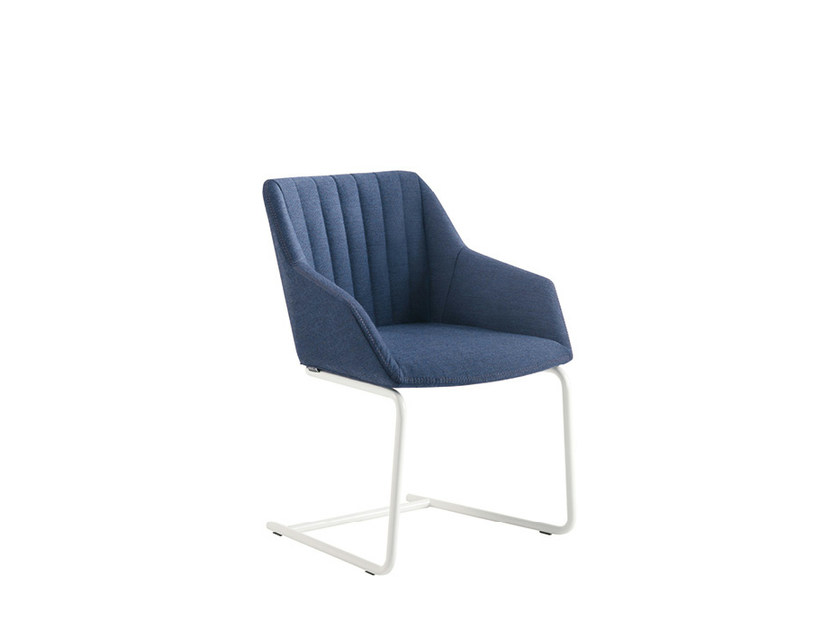 Cantilever fabric chair DAMA STRIP | Fabric chair by Sesta