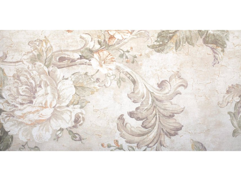 Wallpaper with floral pattern FABRIC - CREATIVESPACE