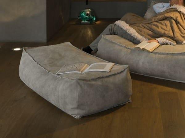 Rectangular fabric pouf ZOE | Fabric pouf by Verzelloni