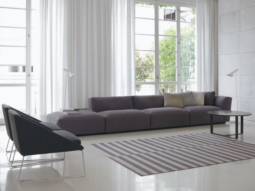 Sectional fabric sofa with removable cover ELLIOT   Fabric sofa by Verzelloni