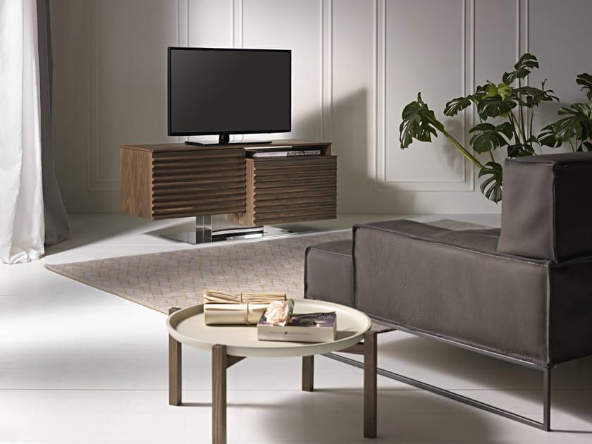 Swivel solid wood TV cabinet FABULUS - Pacini & Cappellini