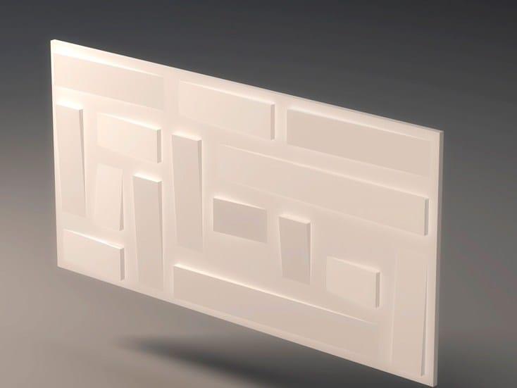 Pannello con effetti tridimensionali in gesso per interni - Placas para paredes interiores ...