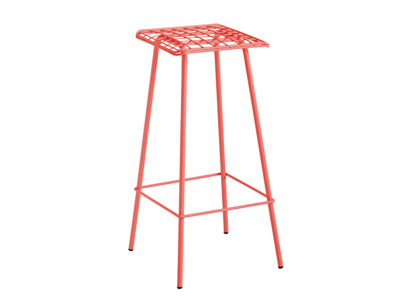High galvanized steel garden stool FARO by iSimar