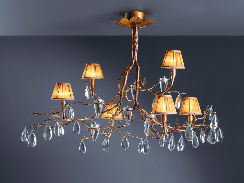 Halogen bronze pendant lamp with crystals FASCINIUM | Pendant lamp by Serip