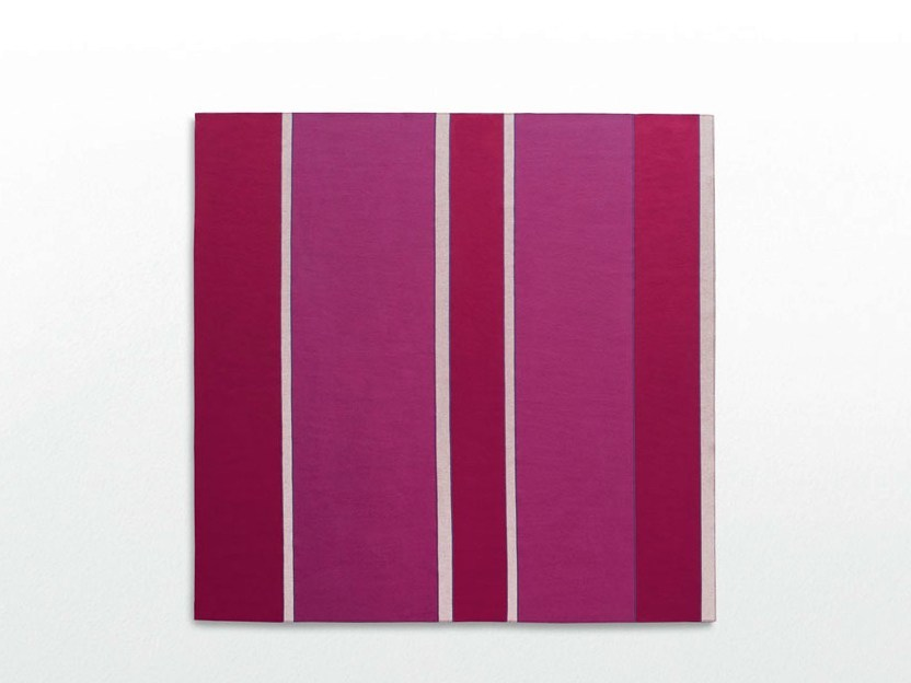 Striped felt rug FASHION - Paola Lenti