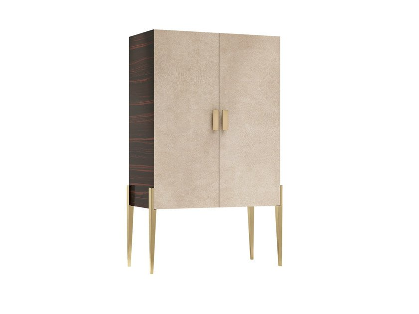 Solid wood highboard with doors FASHIONABLE 2D - Capital Collection by Atmosphera