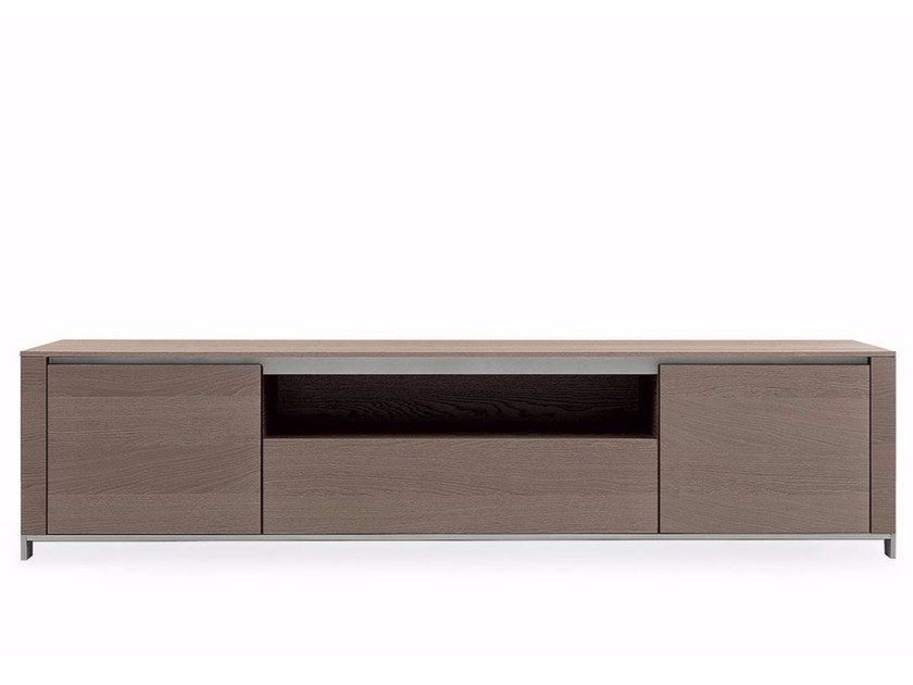 Wood veneer sideboard with drawers FEBE | Sideboard - Poliform