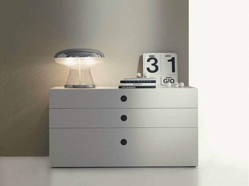 Lacquered wooden dresser FEEL | Dresser - Fimar