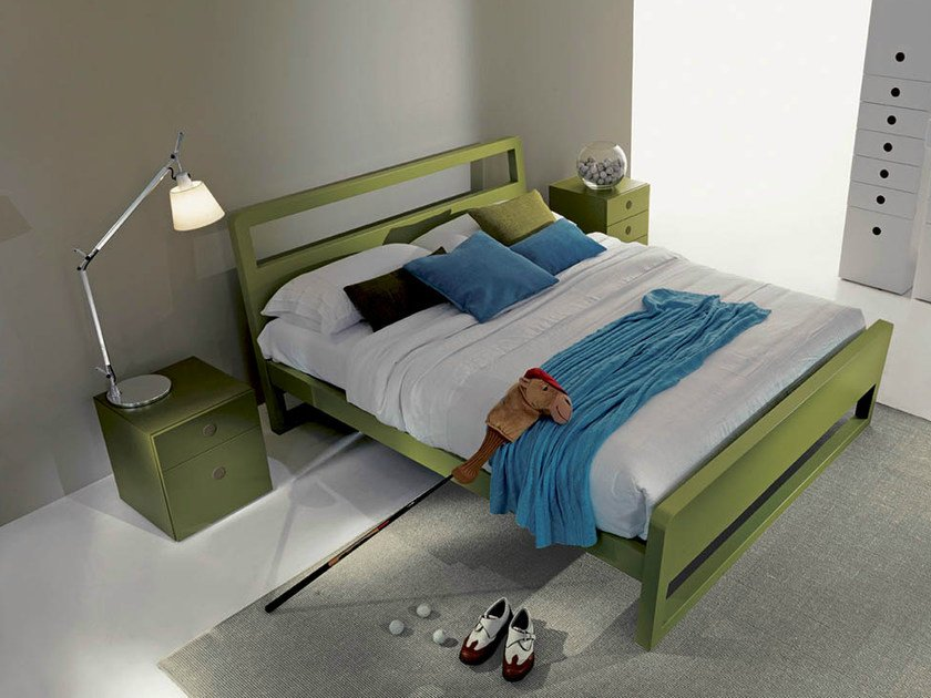 Lacquered storage bed FEEL | Lacquered bed - Fimar
