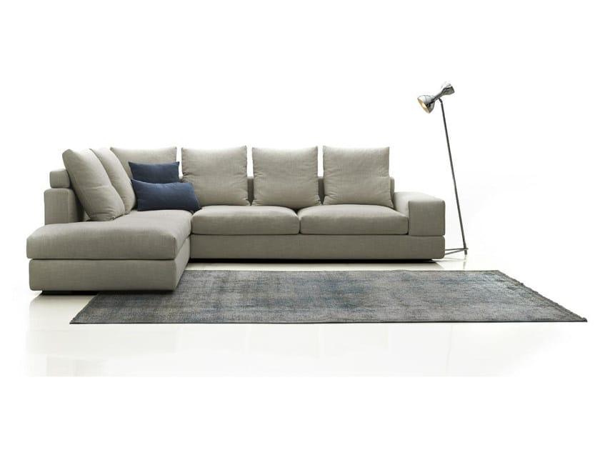 Corner fabric sofa FEEL by Papadatos