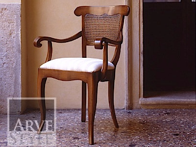 Straw chair with armrests FENICE | Straw chair by Arvestyle