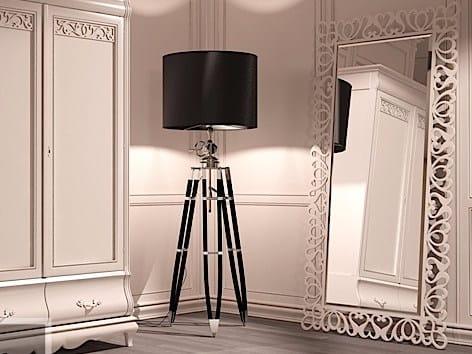 Rectangular framed mirror FENICE | Freestanding mirror - Arvestyle