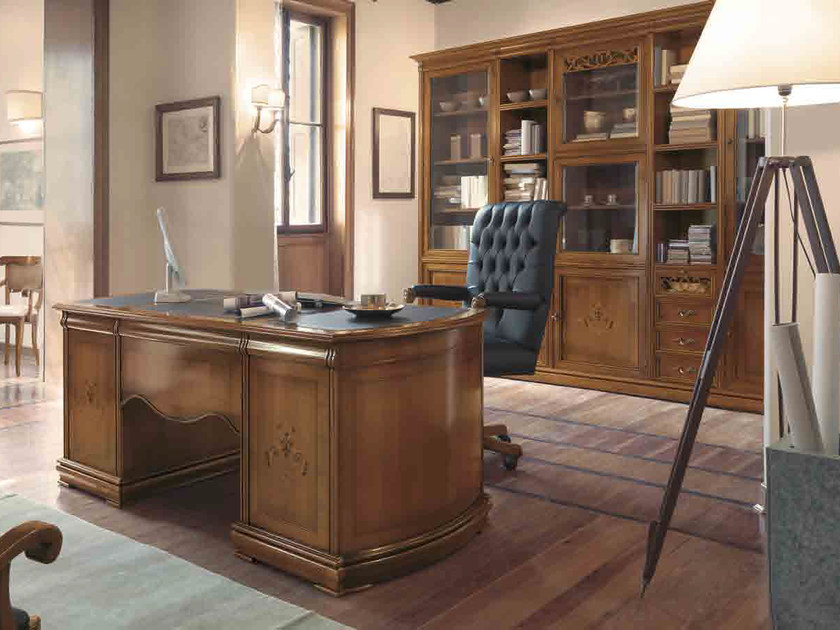 Solid wood writing desk with drawers FENICE | Executive desk by Arvestyle