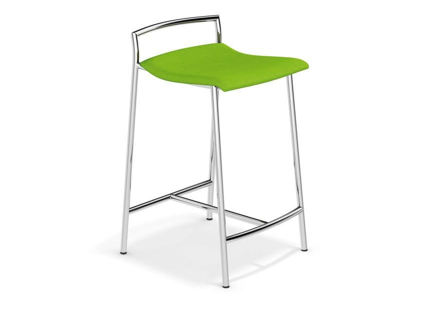 Upholstered fabric stool FENIKS BARSTOOL | Stool - Casala