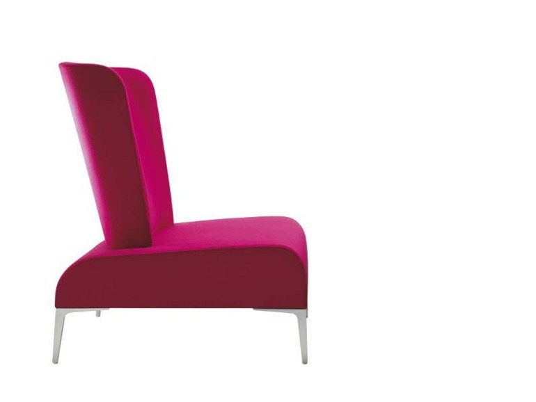 Upholstered fabric armchair ALPHABET - FI TALL by Segis